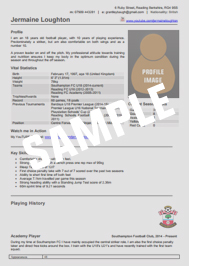Football cv template player scout for Football cv templates free